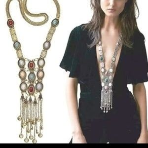 NWOT Goldtone Gypsy/Boho statement necklace